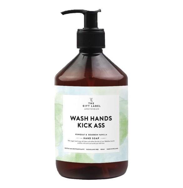 The Gift Label: Modell 'Handsoap - Wash hands kick ass'