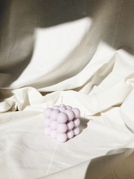 Lumi & Love: Modell 'Cube Kerze - Pastell'