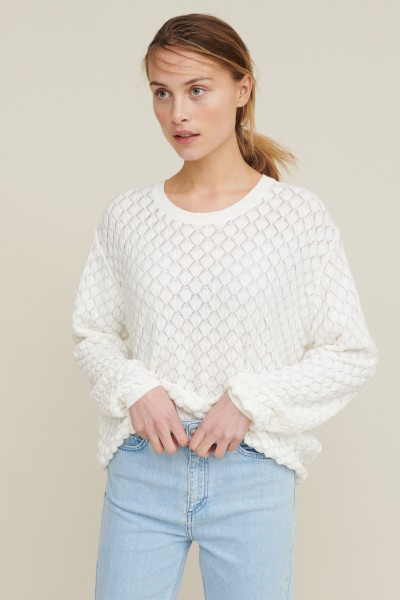 Basic Apparel: Modell 'Camilla Sweater - Off-white'