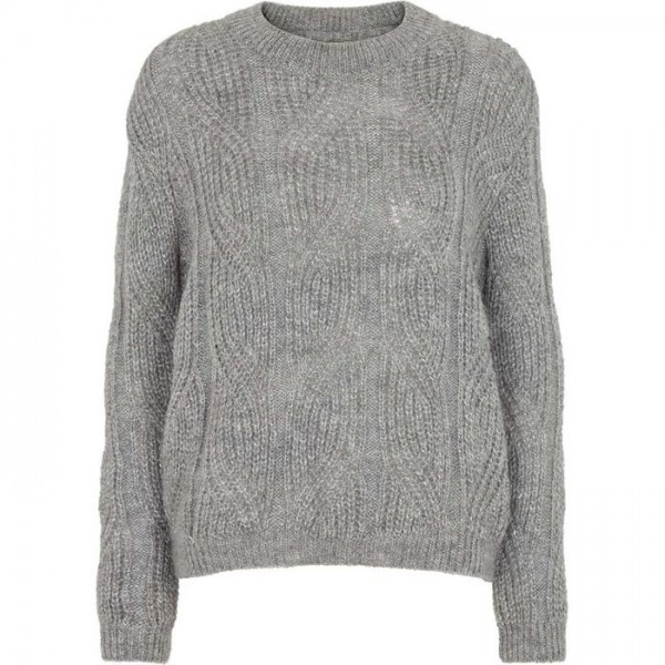 Basic Apparel: Modell 'Ovine Lurex - Light grey melange'