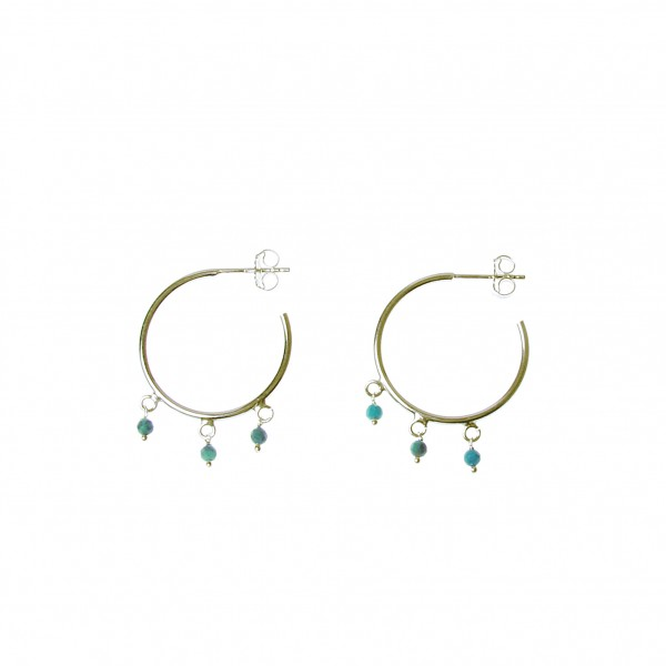 epic: Modell 'Stone Turquoise Hoops - Gold'