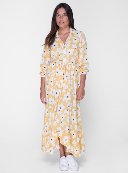 Buddha Wear: Modell 'Kinsley Maxi Dress - Wildflower Yellow'