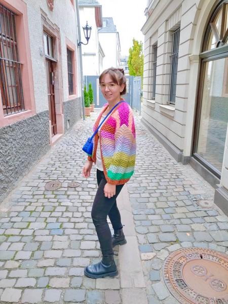 FRNCH: Modell 'Lobelia Cardigan - Multicolor'