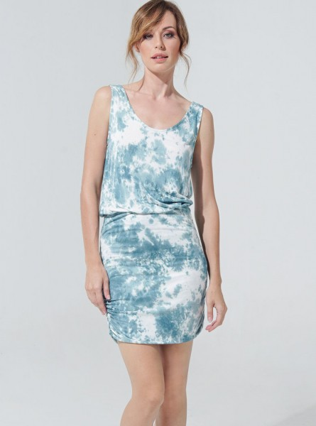 Buddha Wear: Modell 'Keira Dress - Smoked Blue'