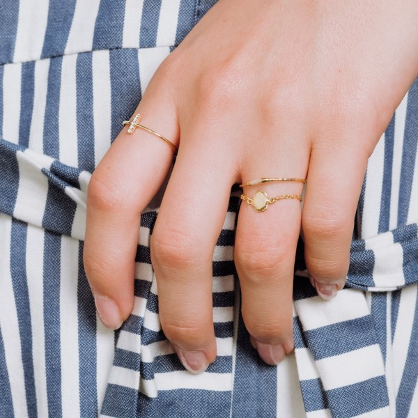 epic: Modell 'Five Star Ring - Gold'