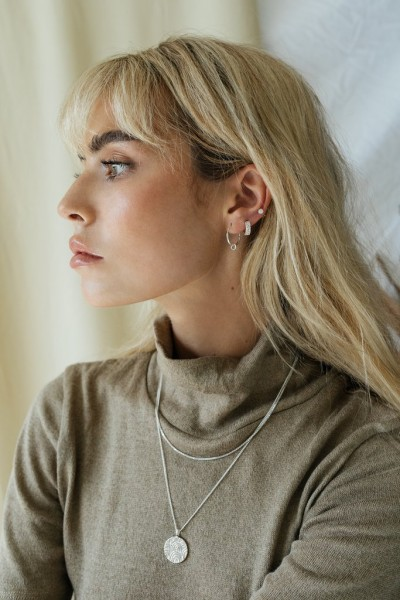 Wildthings: Modell 'Double Hoop Earring - Silver'
