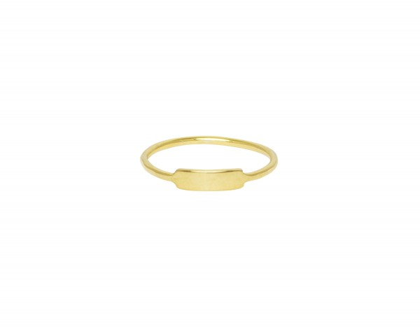 Flawed: Modell 'Classic Plate Ring - Gold'