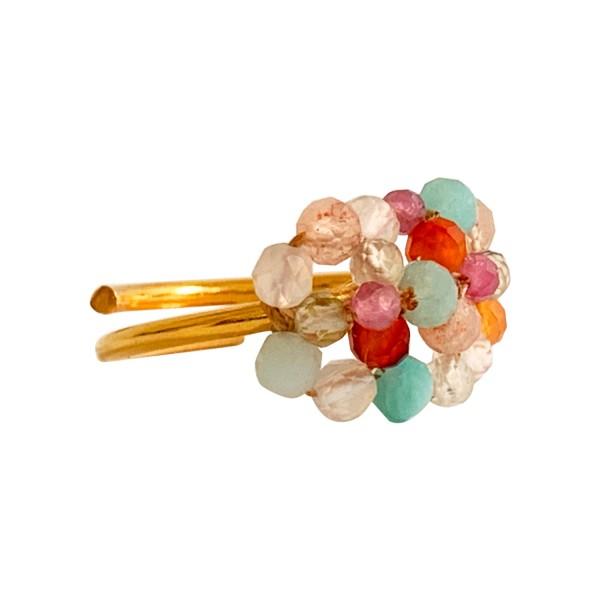 Ibu Jewels: Modell 'Ring Stone Bunch - Gold'
