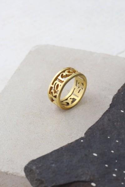 Santi Santi: Modell 'Kuna Karma Ring - Gold'
