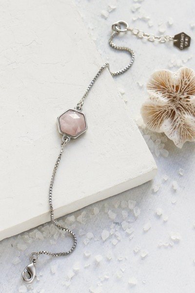 Shlomit Ofir: Modell 'Gala Bracelet Hexagon - Silver'