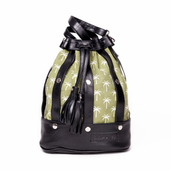 The Statement Thing: Modell 'Sama Bag - Palmtree Green'