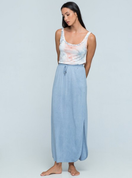 Buddha Wear: Modell 'Paige Skirt - Light Vintage Blue'