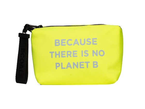 Ecoalf: Modell 'Small Vanity Case W Message - Yellow Fluor'
