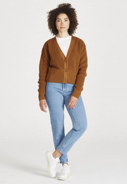 Givn: Modell 'Estelle Cardigan - Rubber Brown'