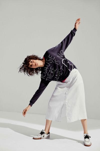 Ecoalf: Modell 'Because Handwritten Sweatshirt - Asphalt'