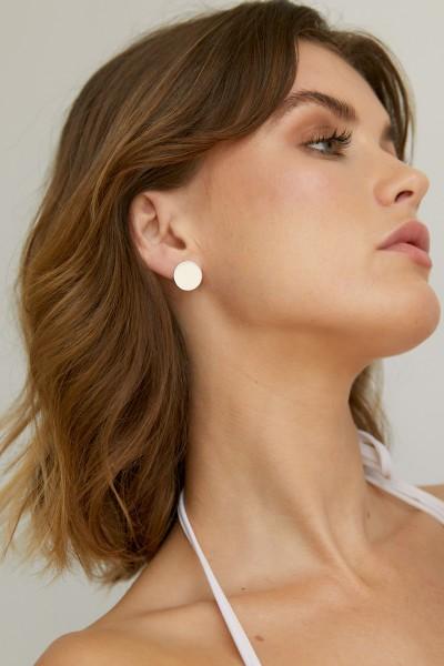 Wild Fawn: Modell 'Simple Disc Studs - Silver'
