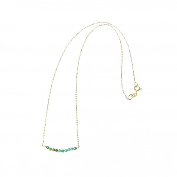 epic: Modell 'Stone Necklace Turquoise Bead - Gold'