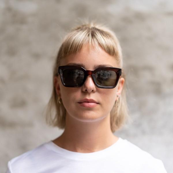 A.Kjærbede: Modell 'Gigi Sonnenbrille - Brown Transparent'