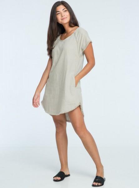 Buddha Wear: Modell 'Audy Mini Dress - Urban Grey'