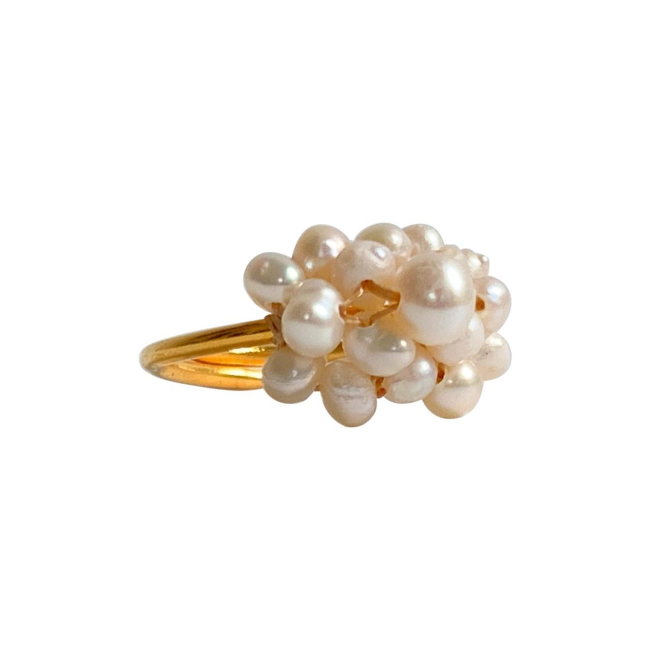 Ibu Jewels: Modell 'Ring Pearl Bunch - Gold'