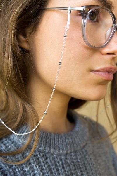 Coco Bonito: Modell 'Ball Chain Sunnycord - Silver'