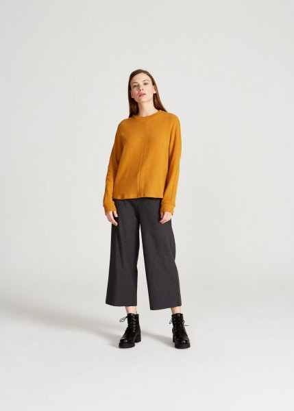 Stoffbruch: Modell 'Wilma Sweater - Mustard'