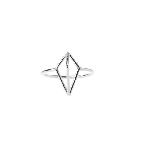epic: Modell 'Half Diamond Ring - White Rhodium'