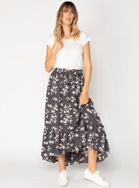 Buddha Wear: Modell 'Solve Maxi Skirt - Flower Crush'