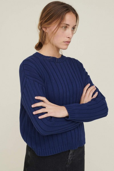 Basic Apparel: Modell 'Siff Sweater - Indigo'