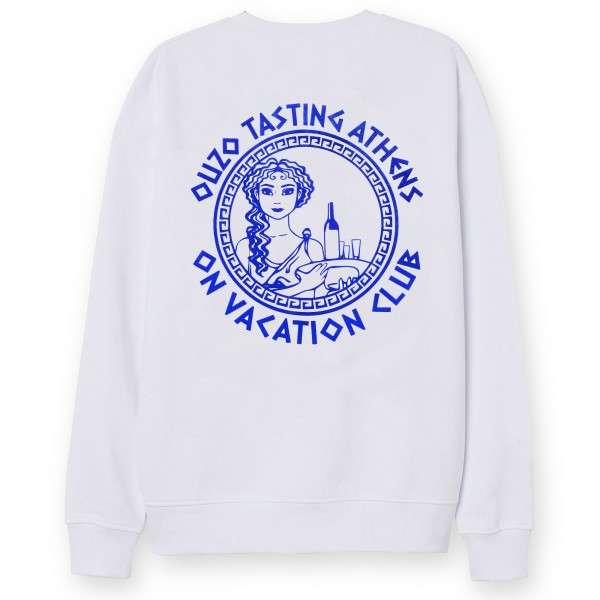 On Vacation: Modell 'Ouzo Tasting Sweater - White'