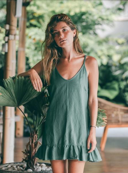 Buddha Wear: Modell 'Alicia Mini Dress - Forest'