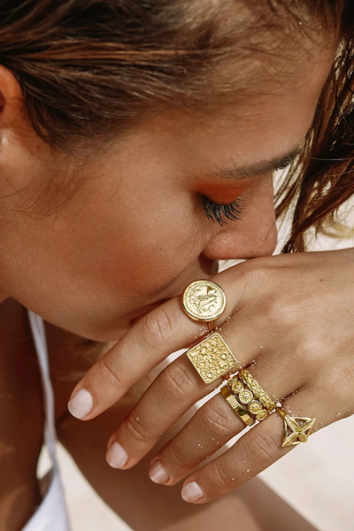 Wildthings: Modell 'Sun Mintage Ring - Gold'