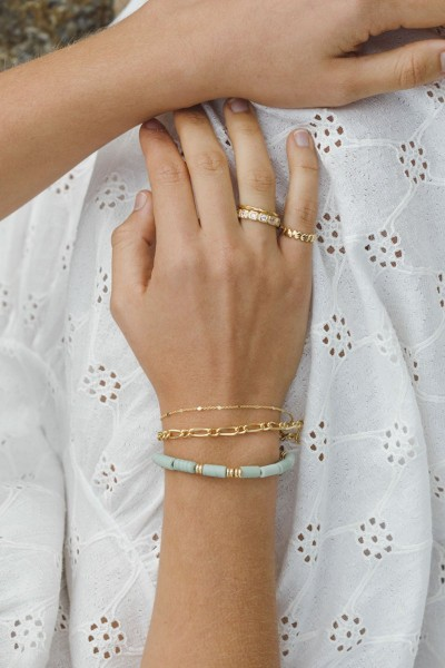 Wildthings: Modell 'Aqua bay bracelet gold'