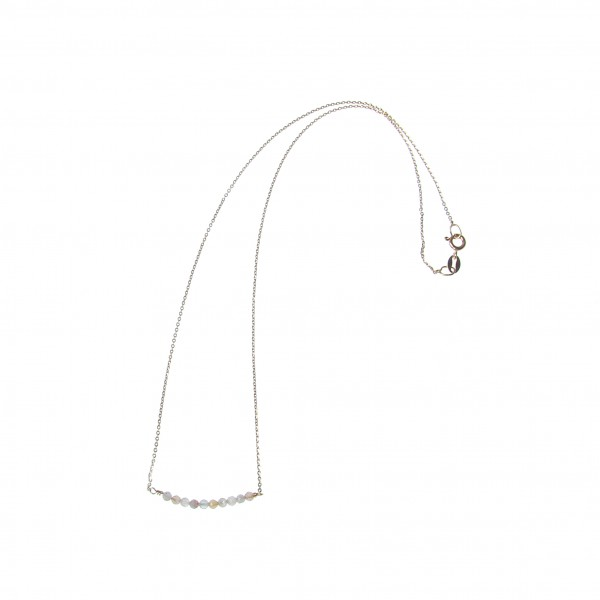 epic: Modell 'Stone Moonstone Bead Necklace - Gold'