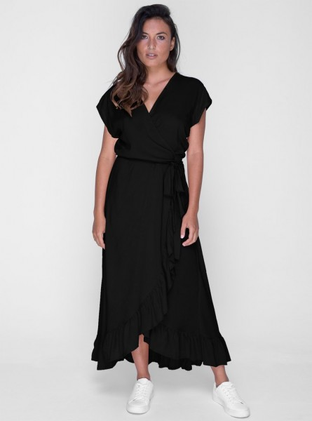 Buddha Wear: Modell 'Sasi Maxi Dress - Black'