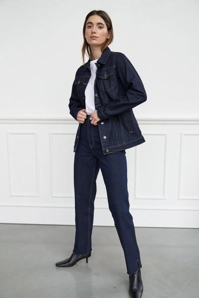 WithBlack: Modell 'Jeansjacke - Dark Blue Denim'