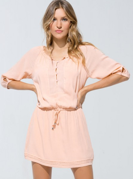 Buddha Wear: Modell 'Sandra Dress - Flamingo'