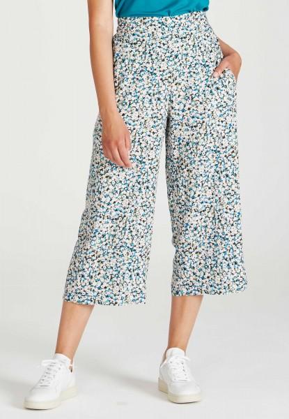 Givn: Modell 'Anna Trousers - Blue / Green (Flowers)'
