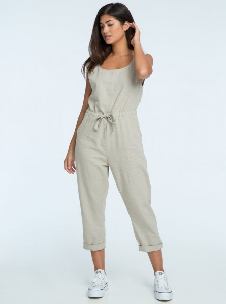 Buddha Wear: Modell 'Elea Jumpsuit - Urban Grey'