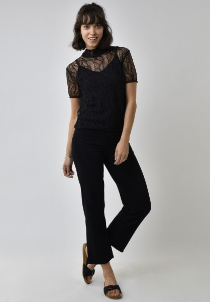 Lovjoi: Modell 'Top Silkyleaf Recycled Lace - Black'