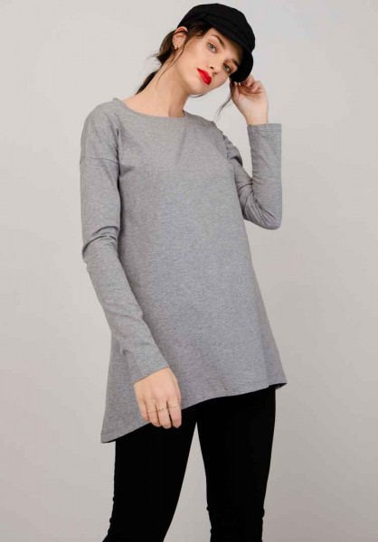 Lovjoi: Modell 'Ground Ivy Longsleeve - Dark Grey Melange'