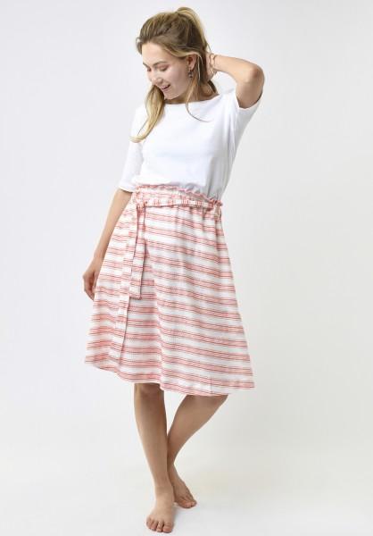 Lovjoi: Modell 'Skirt Ceanothus Fancy Jersey - Ivory/Melon'