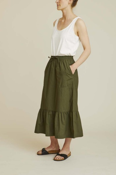 Basic Apparel: Modell 'Vilde Skirt - Army'