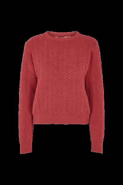 Basic Apparel: Modell 'Tilde Sweater - Earth red'