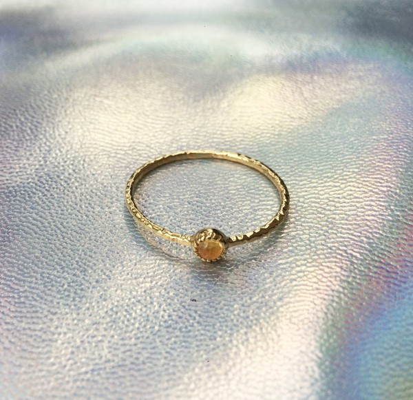 Stone Ring Citrin - Gold