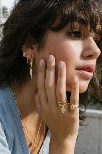 Wildthings: Modell 'Bubble Hoop Earring - Gold'