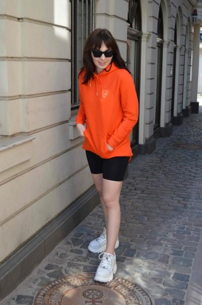 TST Hoodiekleid - Tangerine Red