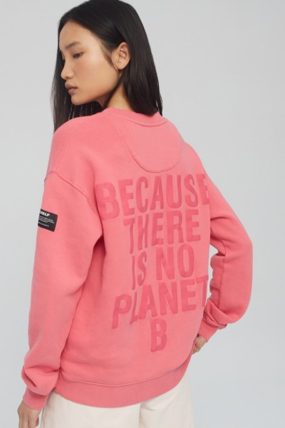 Ecoalf: Modell 'Because Sweatshirt Woman - Pink'