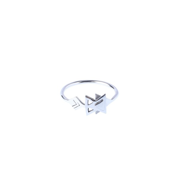 epic: Modell 'Signs III Ring - White Rhodium'