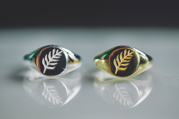 Leaf Signet Ring - Gold